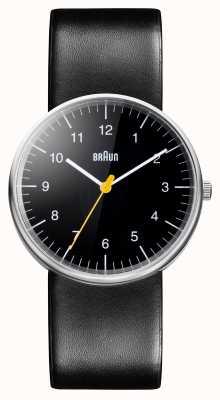 Braun Męski cały czarny zegarek kwarcowy BN0021BKBKG