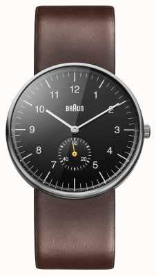 Braun Męski czarny brązowy zegarek BN0024BKBRG