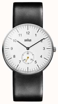 Braun Męski biały czarny zegarek BN0024WHBKG