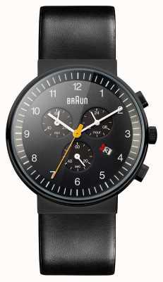 Braun Męski chronograf w całości czarny zegarek BN0035BKBKG