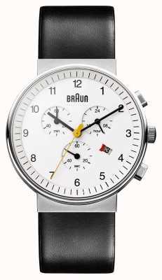Braun Unisex klasyczny zegarek chronograf BN0035WHBKG