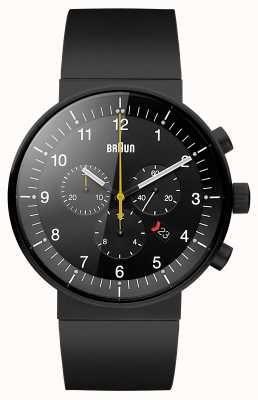 Braun Męski czarny zegarek chronografowy BN0095BKBKBKG
