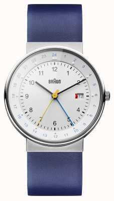 Braun Unisex klasyczny zegarek dual-time BN0142WHBLG