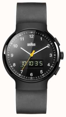 Braun Czarny, klasyczny zegarek ana-digi marki Gent BN0159BKBKG