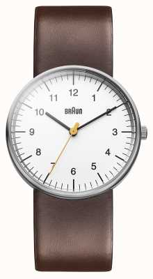 Braun Męski biały brązowy zegarek BN0021WHBRG
