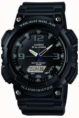 Casio Mężczyzna pięć alarm zasilany energią słoneczną oświetlacz czarny AQ-S810W-1A2VEF