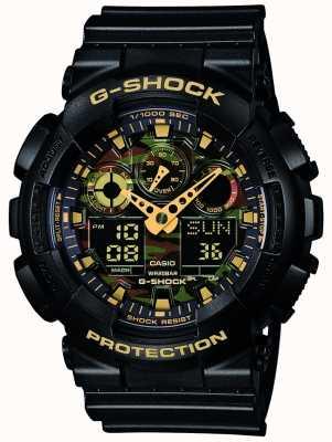 Casio Tarcza maskująca alarm G-shock chronograf GA-100CF-1A9ER