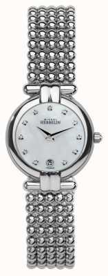 Michel Herbelin Damska stalowa perła, kryształ, perłowa tarcza 16873/B59