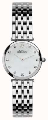 Michel Herbelin Damski epsilon, kamienny zestaw, perłowy zegarek 1045/B59