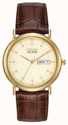 Citizen Męski pasek zegarka z brązowym zegarem BM8242-08P