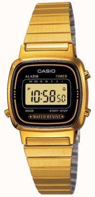 Casio Cyfrowa bransoletka damska pozłacana w stylu retro LA670WEGA-1EF