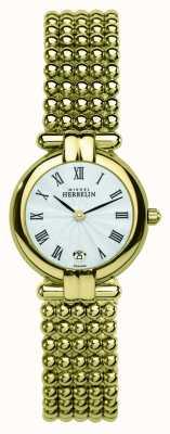 Michel Herbelin Damska perle, złoty zegarek 16873/BP08