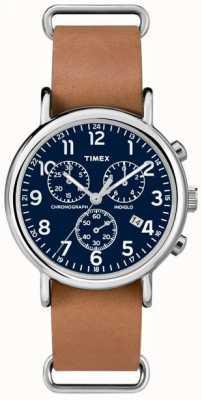 Timex Męski chronograf weekendowy przewymiarowany TW2P62300