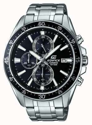 Casio Czarny chronograf ze stali nierdzewnej EFR-546D-1AVUEF