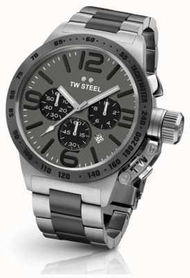 TW Steel Stołówka męska 45mm chrono dwukolorowa szara tarcza CB203