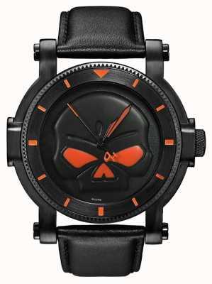 Harley Davidson Zegarek męski czarny zegarek Willie g 78A114