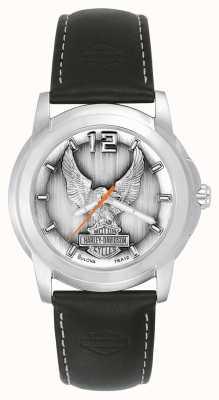 Harley Davidson Czarny orzeł zegarek 76A12