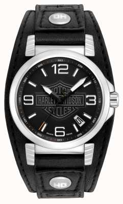 Harley Davidson Męski zegarek ze stali nierdzewnej 76B163