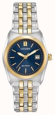 Citizen Damski eko-drive corso wr100 w dwóch odcieniach EW2294-53L