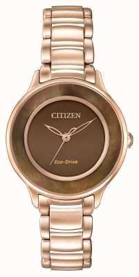 Citizen Eko-napęd l koło czasu różowe złoto EM0382-86X