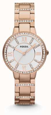 Fossil Damski virginia różany złoty pvd platerujący ES3284