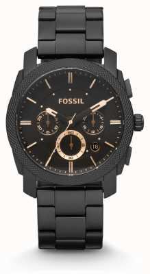 Fossil Męska maszyna pokryta czarnym pvd FS4682