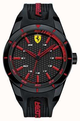 Scuderia Ferrari Czerwony, czarny, silikonowy pasek z czarną czerwoną tarczą 0830245