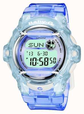 Casio Baby-g liliowy / niebieski damski zegarek cyfrowy BG-169R-6ER