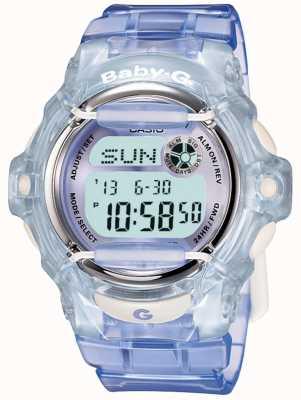 Casio Baby-g liliowo-niebieski damski zegarek cyfrowy BG-169R-6ER