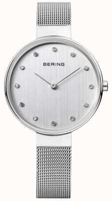 Bering Damskie | pasek ze stali nierdzewnej | srebrna tarcza | 12034-000