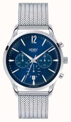Henry London Chronograf z siatki ze stali nierdzewnej Knightsbridge HL41-CM-0037
