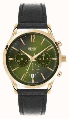 Henry London Chiswick, czarny skórzany pasek chronograf HL41-CS-0106