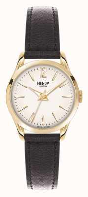 Henry London Brązowy skórzany pasek marki Westminster HL25-S-0002
