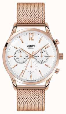 Henry London Chronograf z różowego złota z Richmond HL41-CM-0040