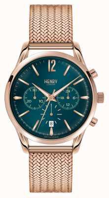Henry London Chronograf ze złotą plamą w kolorze złotego stratforda HL39-CM-0142