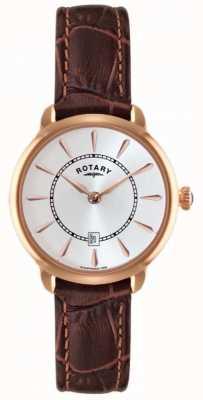 Rotary Zegarek z brązowym skórzanym paskiem LS02919/03