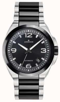 Junghans Spektrum | automatyczne | bransoleta ze stali ceramicznej czarno-srebrnej 027/1500.44