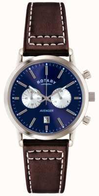 Rotary Męski mściciel brązowy skórzany pasek chronograficzny GS02730/05
