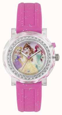 Disney Princess Różowy lightup zegarek dla trzech księżniczek PN1067