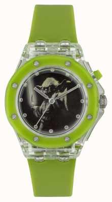 Star Wars Children yoda rozświetlają zielony zegarek YOD3702