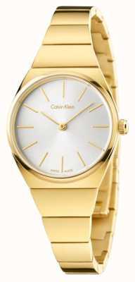 Calvin Klein Najwyższej jakości srebrny platerowane srebrem tarcza K6C23546