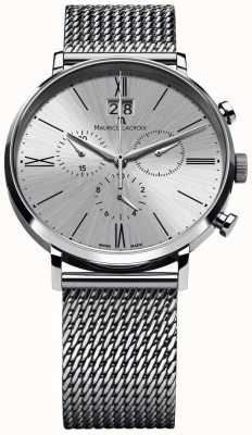 Maurice Lacroix Eliros Data bransoleta chronograf srebrna EL1098-SS002-110-1