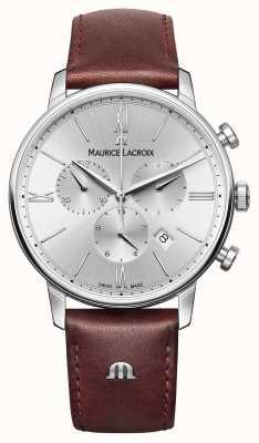 Maurice Lacroix Chronograf Eliros datuje skórzany pasek EL1098-SS001-110-1