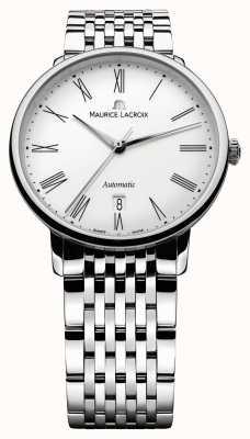Maurice Lacroix Zegarek automatyczny ze stali męskiej z klasą LC6067-SS002-110-1