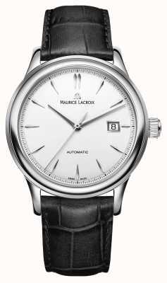 Maurice Lacroix Męski zegarek automatyczny z srebrną datą LC6098-SS001-130-1