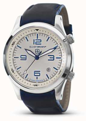Elliot Brown Mens canford blue leather white dial 202-001-L06