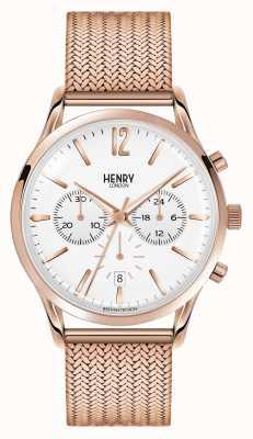 Henry London Unisex patera w kolorze różowego złota Richmond HL39-CM-0034
