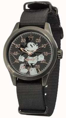 Disney By Ingersoll Myszka Mickey z czarnym nylonowym paskiem DIN008BKBK