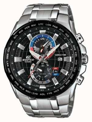 Casio Męski zegarek ze stali nierdzewnej z chronografem EFR-550D-1AVUEF