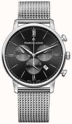 Maurice Lacroix Mens milanais czarna tarcza ze stali nierdzewnej EL1098-SS002-310-1
